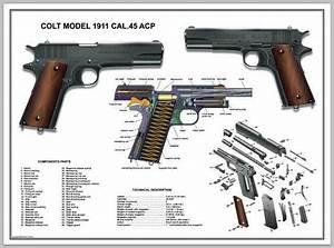 Poster 24 U0026 39  U0026 39 X36 U0026quot  U S Army Colt 1911 Cal  45 Acp Manual