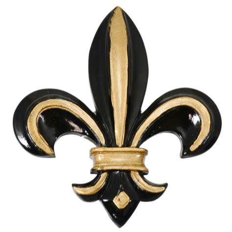 Painted Black & Gold Fleur De Lis Magnet ...
