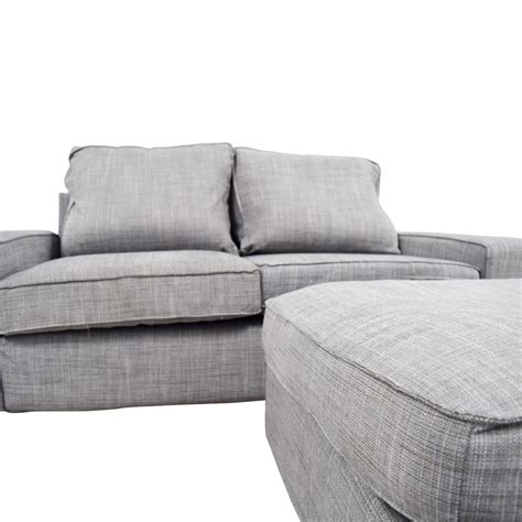 Loveseat And Ottoman by 64 Ikea Ikea Kivik Gray Sofa And Ottoman Sofas