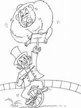 Circus sketch template
