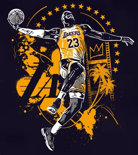 LBJNLA Essential T-Shirt by cr8chris | Lebron james lakers ...