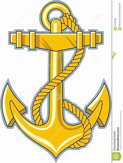 Anchor Clipart Navy Clip Anker Rope Gouden