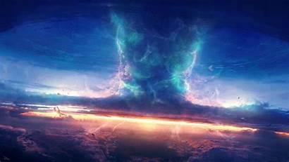 Deviantart Tornado Sky Sunrise Space Thunder Earth