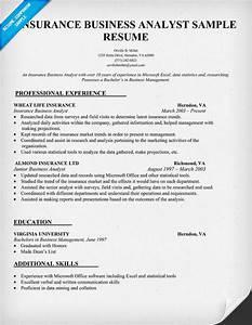 Insurance business analyst resume sample resume samples for Insurance business analyst resume sample