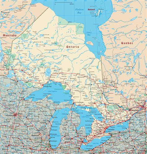 map  ontario canada