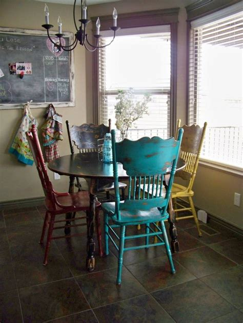 colorful kitchen table sets 25 best ideas about distressed chair on 5574