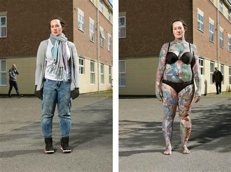 revealing portraits  heavily tattooed people