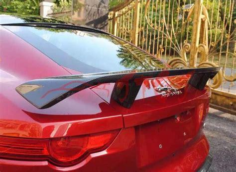 Carbon Fiber Car Rear Wing Trunk Lip Spoiler For 14 17