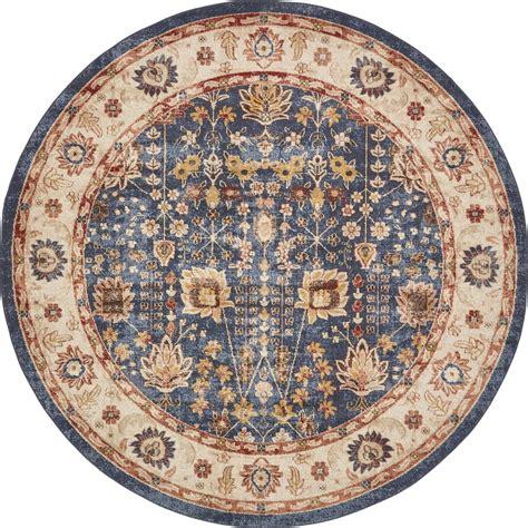 8 foot area rugs unique loom arcadia light blue 8 ft x 8 ft area