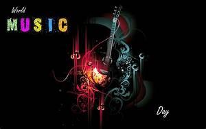 Happy World Music Day 3D Guitar 4K Full Uhd Desktop ...