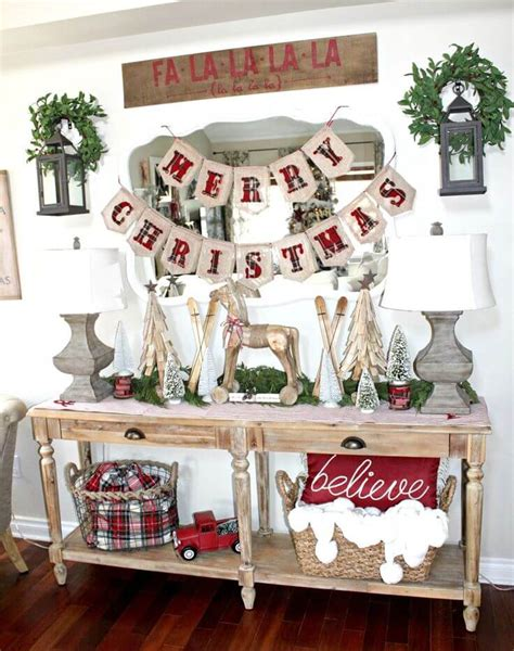 rustic farmhouse christmas decor ideas  designs