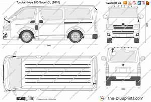 Toyota Hiace 200 Super Gl Vector Drawing