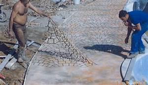 Dosage Beton Terrasse : b ton imprim beton decoratif exterieur bricobistro ~ Premium-room.com Idées de Décoration