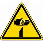 Sharp Warning Label Element Iso Safetysign
