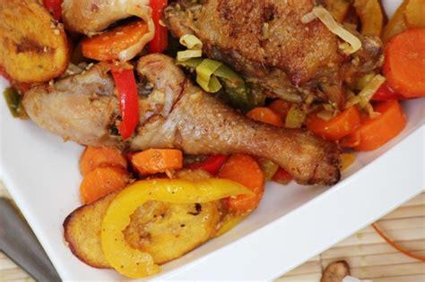 recette de cuisine camerounaise le poulet dg recette camerounaise pegie cuisine