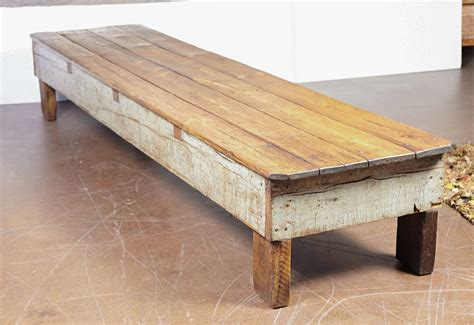 using a bench as a coffee table french shop pine bench used for long coffee table or low