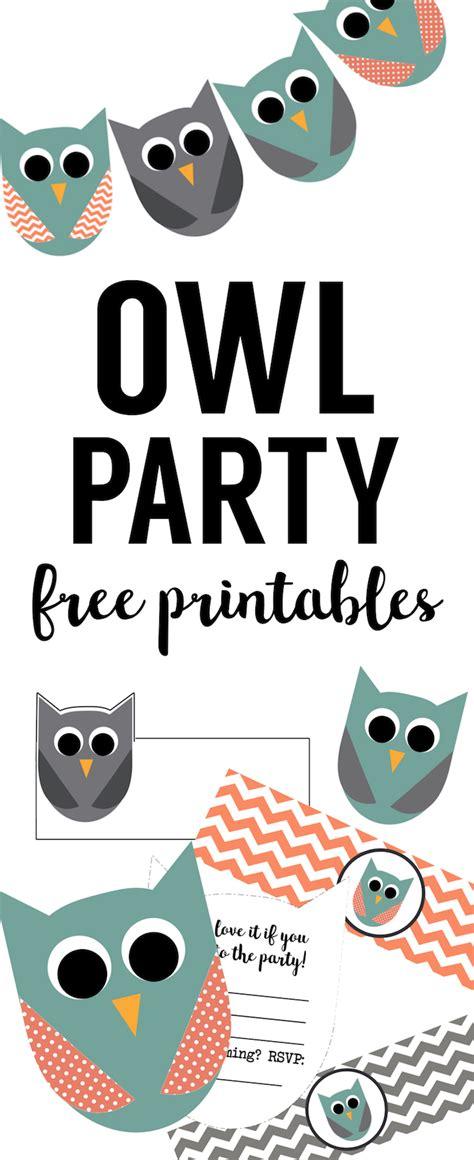 owl party printables paper trail design