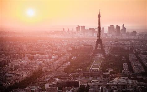 paris france eiffel tower dawn morning wallpaper hd