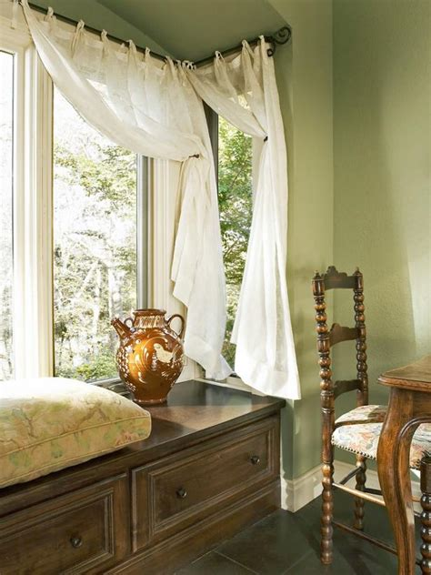 french country kitchen  wood bench window seat hgtv