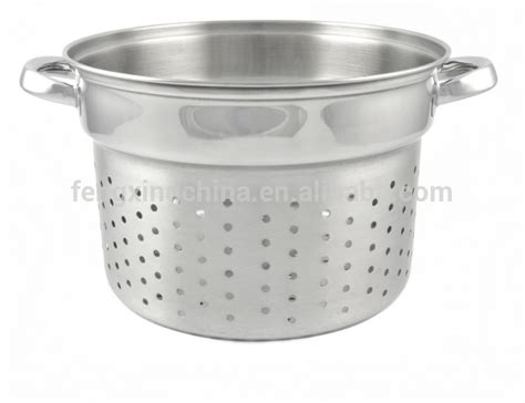 pasta strainer basket 4pcs stainless steel pasta pot with strainer and basket 1419