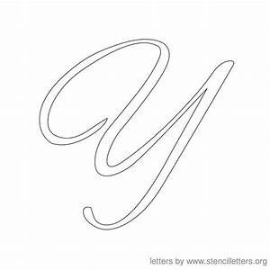 7 best images of cursive letters template free printable With large cursive letter stencils