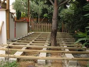 terrasse bois fondation forum maconnerie facades With fondation pour terrasse en bois