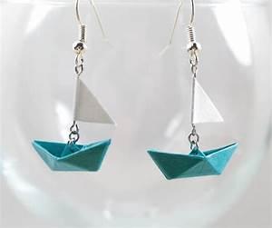 Origami Bateau à Voile : tuto boucle d 39 oreille bateau origami ~ Dode.kayakingforconservation.com Idées de Décoration