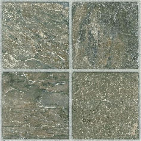 shop style selections 1 12 in x 12 in tumbled peel and stick vinyl tile at