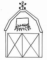 Coloring Printable Barn Farm Templates Preschool Simple Activities sketch template