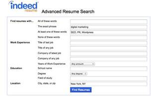 advanced resume search indeed how to use indeed resume search
