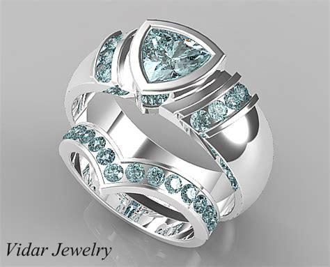 style aquamarine matching wedding bands
