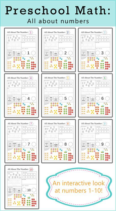 preschool math printables   numbers