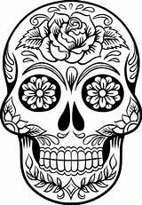 Skull Coloring Pages Sugar Printable sketch template