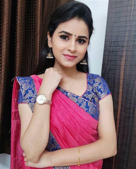 tamil serial actress rithika latest hd photoshoot  saree