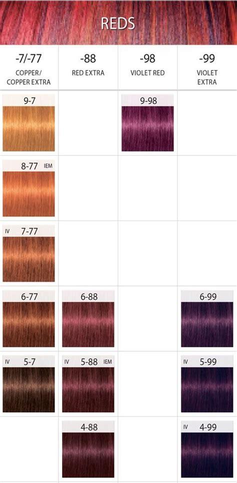 schwarzkopf hair color chart ideas