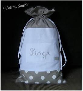 Sac à Linge Sale : sac linge pochon 3 petites souris ~ Dailycaller-alerts.com Idées de Décoration