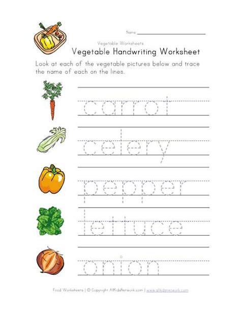 vegetable writing worksheet writing worksheets