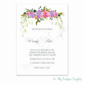 floral invitation template songwol 714fa1403f96 With wedding invitation no flowers