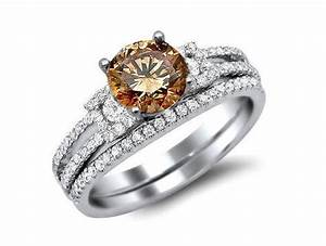 brown diamond engagement ring pictures slideshow With chocolate diamond wedding ring