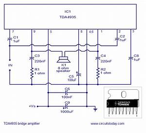 Bridge Amplifier Using Tda 4935