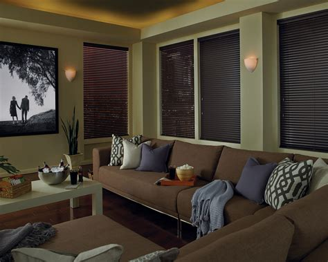 blackout honeycomb shades media room abda window fashions
