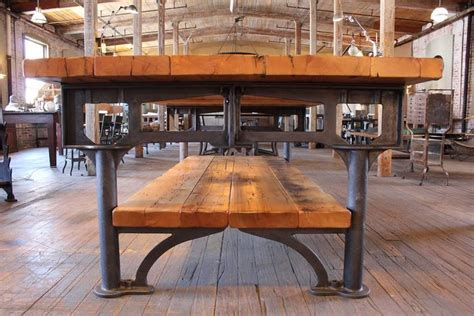 Industrial Reclaimed Wood Harvest Kitchen Island Great