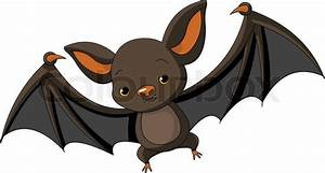 Illustration of cute cartoon Halloween bat flying | Stock ...