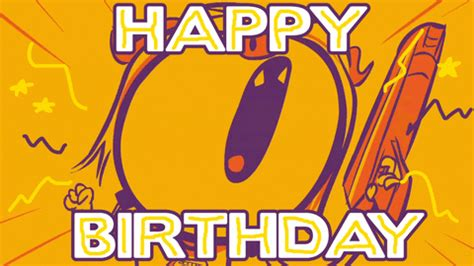 anime birthday gifs find share  giphy