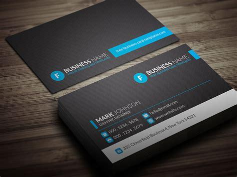 Modern Blue Corporate Business Card Template » Free
