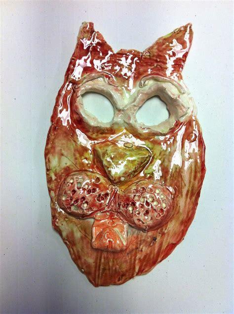 chumleyscobey art room clay animal masks   grade