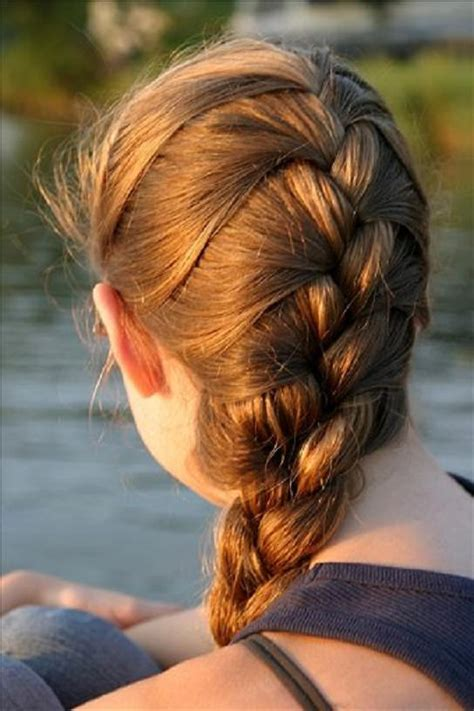 nice french braid hairstyle