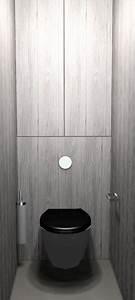 deco wc bois et noir With awesome wc suspendu couleur gris 10 toilette carrelage imitation bois wc pinterest