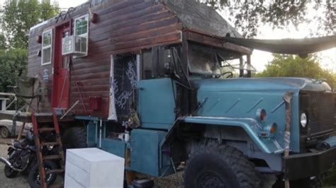Man Converts '87 Military Cargo Truck into his DIY Tiny Home