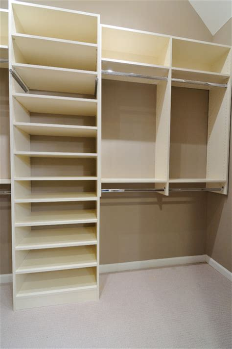 melamine closet traditional closet atlanta  cr